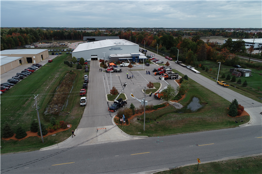 Drone photos taken by Prein&Newhof during the Snowplow Roadeo